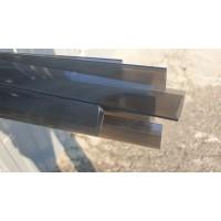 Профиль торцевой 10 мм серый тонированный