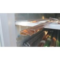 Профиль торцевой 4 мм бронза коричневый