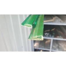 Профиль торцевой 6 мм зеленый