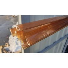 Профиль торцевой 8 мм бронза коричневый