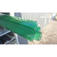 Профиль торцевой 8 мм зеленый