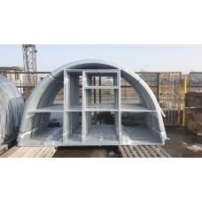 Теплица оцинкованная с поликарбонатом 4 мм Агроном 40х20 каркас 3,5х4 метра двойная дверь