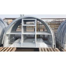 Теплица оцинкованная с поликарбонатом 4 мм Агросила-Эко 20х20 каркас 3х8 метра